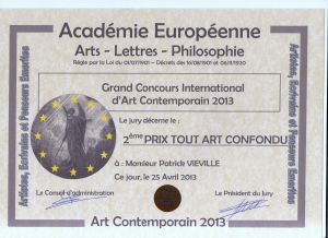 Grand concours International D'art Contemporain 2013